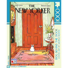 Dog Behind The Door Jigsaw Puzzle