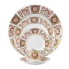 Derby Panel Red Bread & Butter Plate