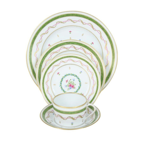 Vieux Paris Green Dinner Plate