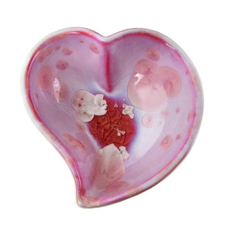 Crystalline Twist Heart Bowl-Rose