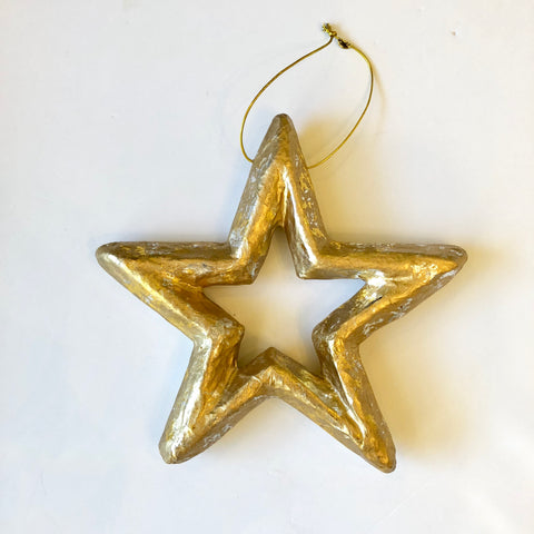Medium Gold & Silver leaf Star