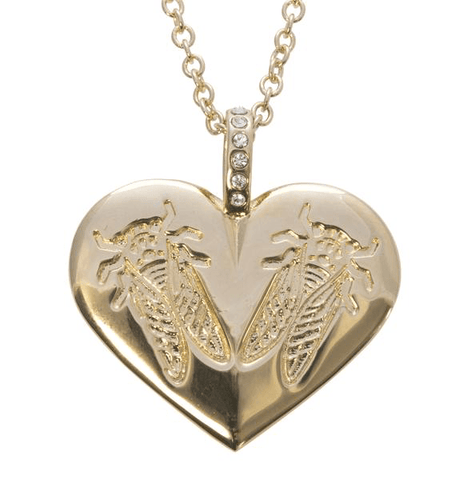 Goldbug LoveBug Heart Necklace