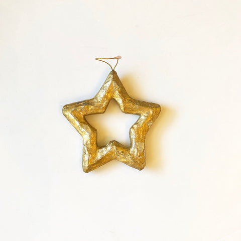 Mini Gold & Silver Leaf Star