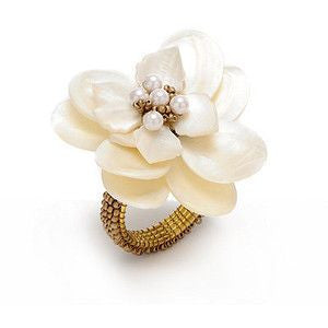 Flower Napkin Rings Set Of 4