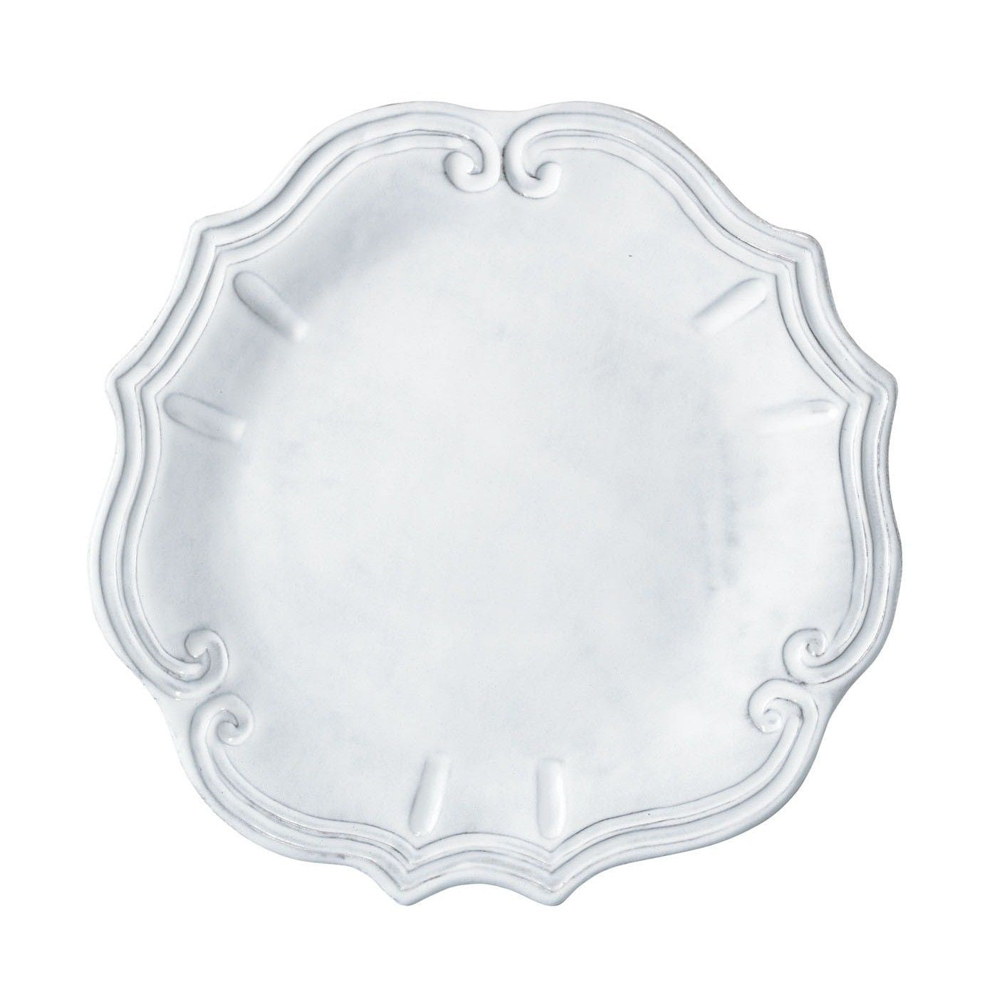 Incanto White Baroque American Dinner Plate