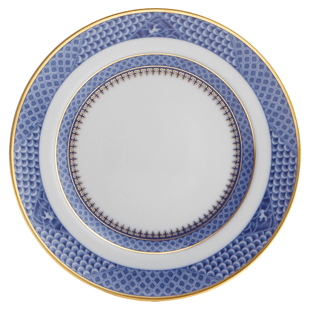 Indigo Wave Bread Plate