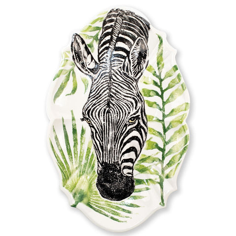 Into The Jungle Zebra Scallop Large Oval Platter