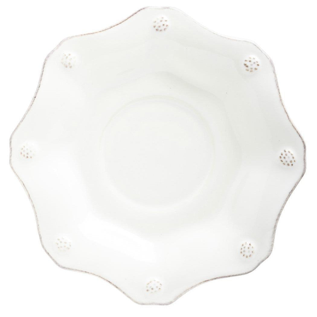 Berry & Thread White Scallop Saucer