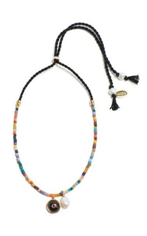 Orbit Necklace in Rainbow