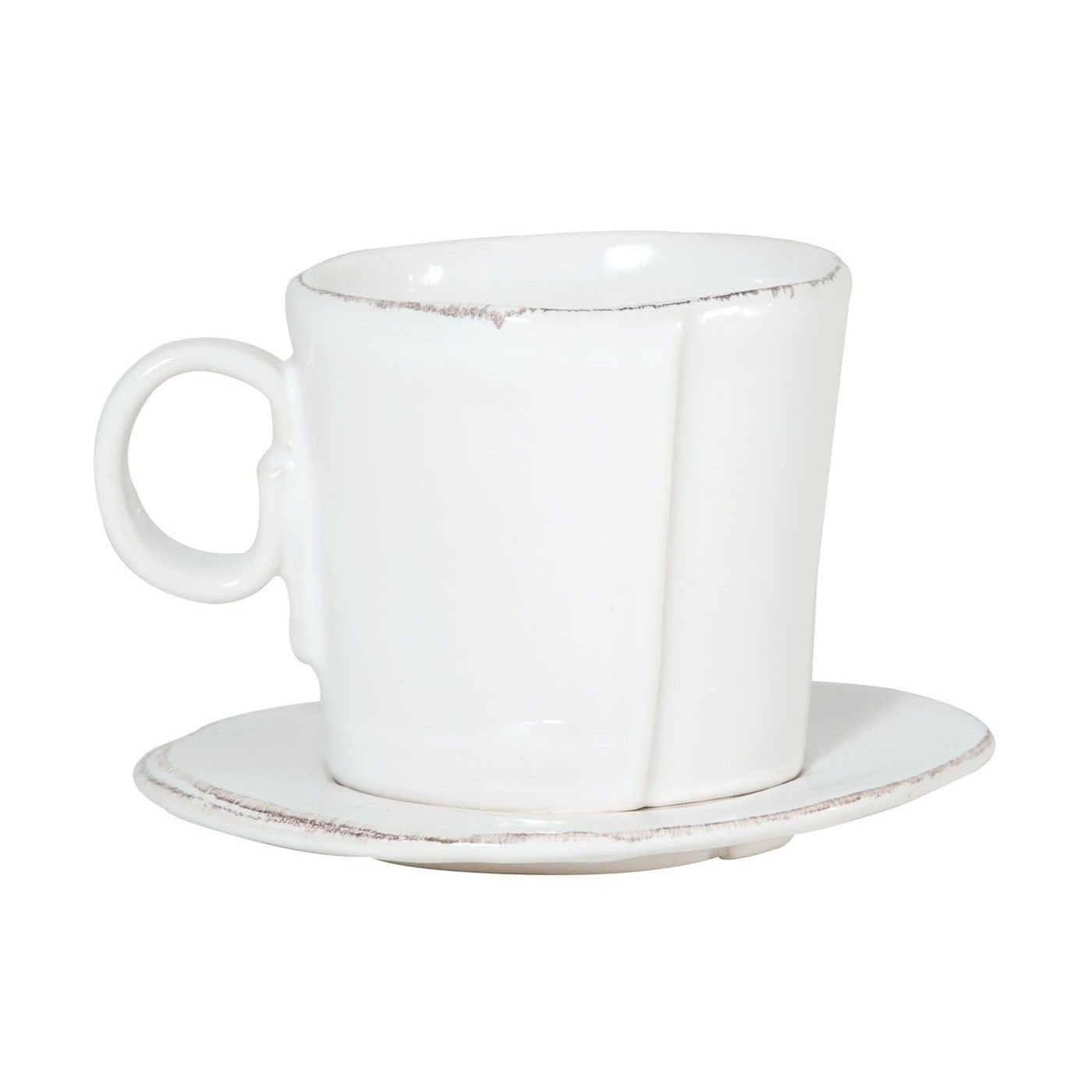Lastra White Espresso Cup And Saucer