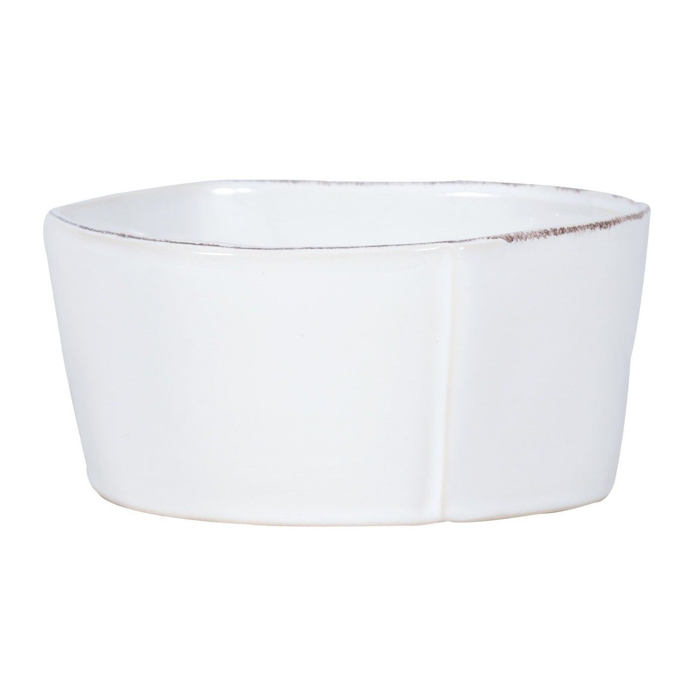 Lastra White Medium Serving Bowl