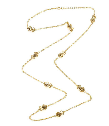Goldbug Long Station Necklace