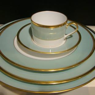 Madison Celadon/Gold Cup & Saucer