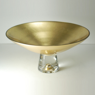 Gold Pedestal Bowl Small