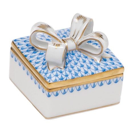 Box with Bow, Blue