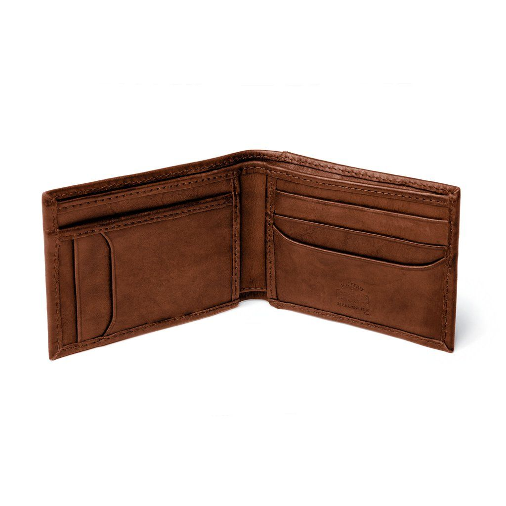 Benjamin Leather Bifold With Pocket