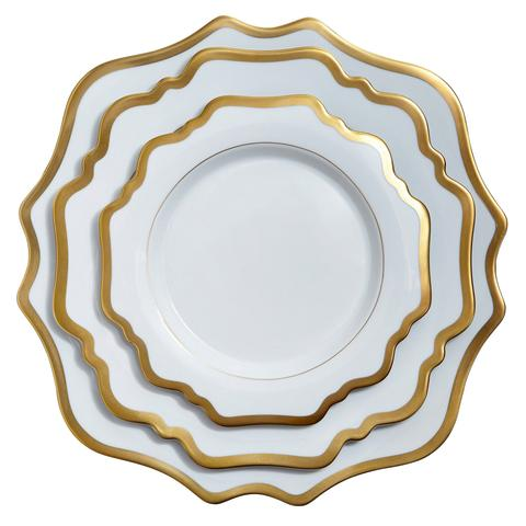 Antique White and Gold Bread and Butter Plate