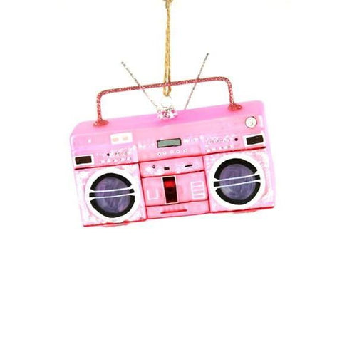Pink Boombox Ornament