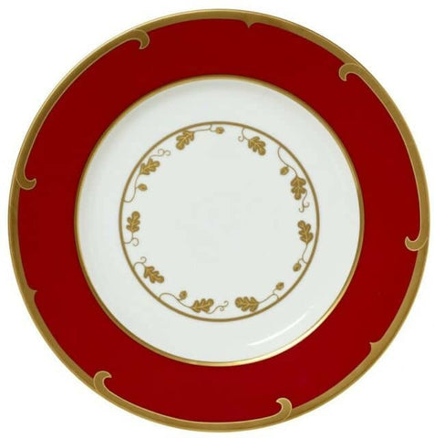 Winter Game Birds Dinner Plate Red