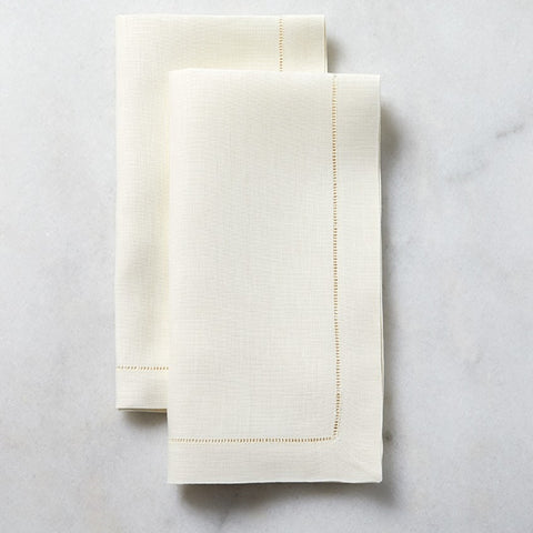 Classico White Hemstitched Dinner Napkins