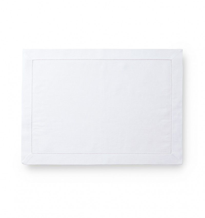 Classico White Hemstitched Placemat