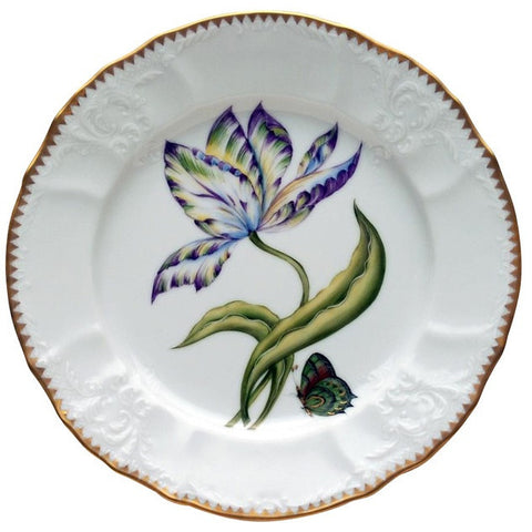 Old Master Tulips Yellow, Green, Purple & Blue Salad Plate