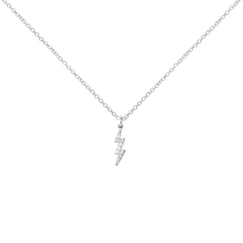 Little Lightening Bolt Necklace, Sterling Silver