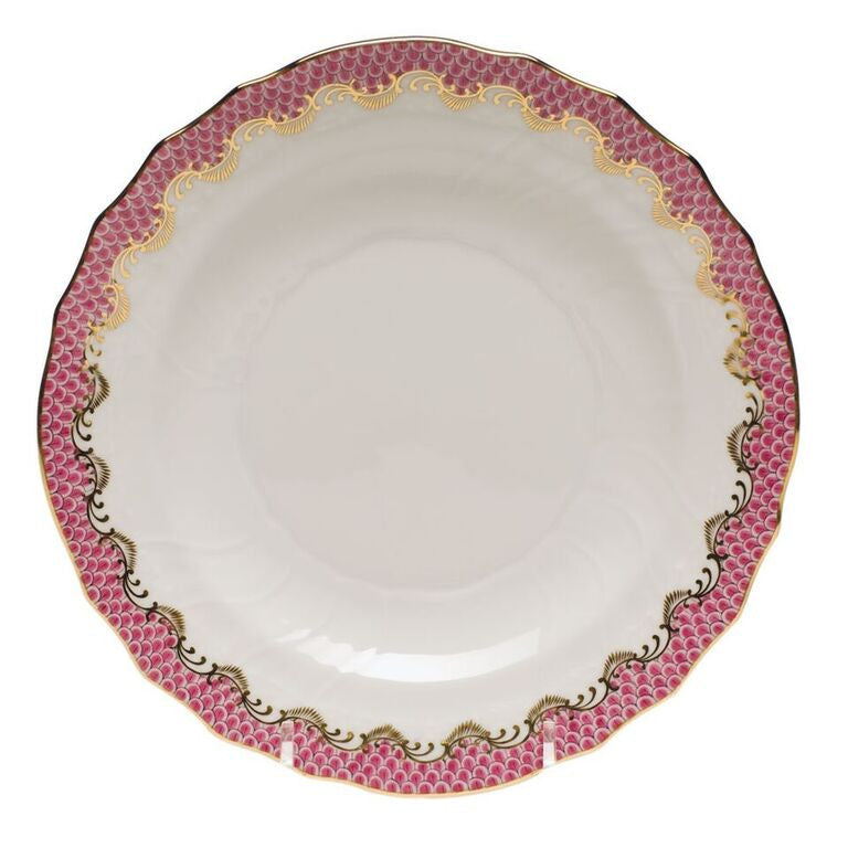 Pink Fish Scale Salad Plate