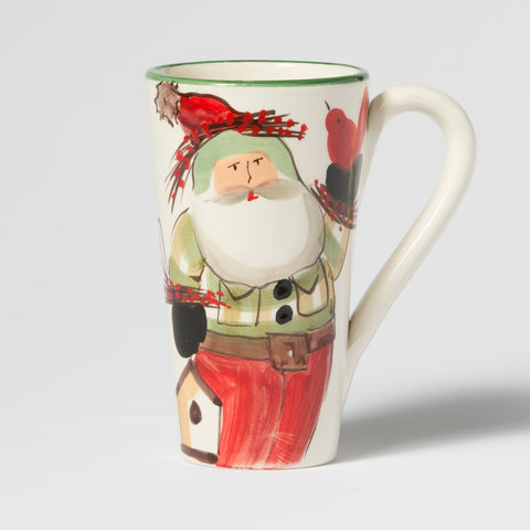 Old St. Nick Latte Mug With Birds