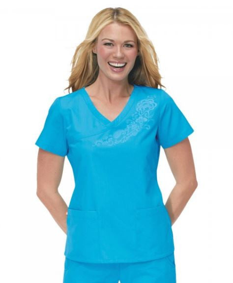 Electric Blue Scrub Top
