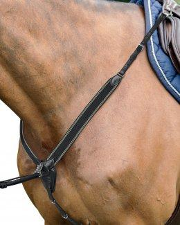 Prestige Flash Bridle in double leather & rubber reins . Black Pony Size.