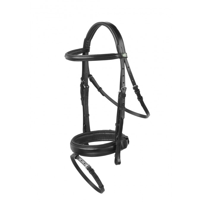 Prestige Evo Amalfi Dressage Bridle - (reins not included) Black Full Size