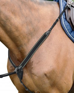 Prestige v check fully elasticated breastplate black PONY SIZE