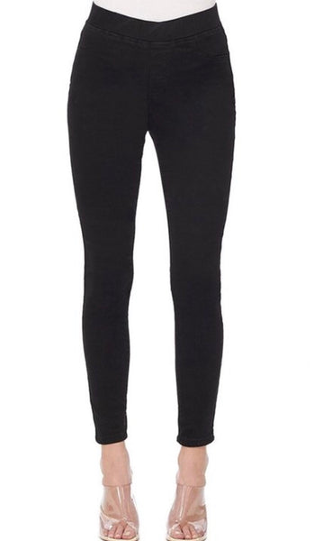 Hammer Pull-On Comfort Waistband Jeggings - Black Denim