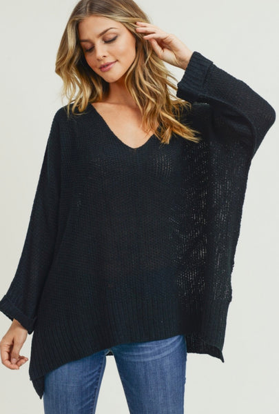 Lightweight Sweater - Black