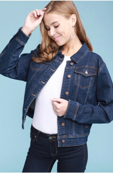 Judy Blue Dark Denim Jacket