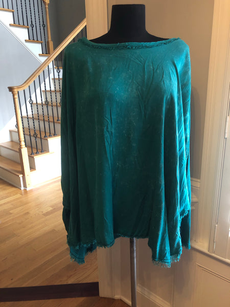 Jade Poncho-Style Top by Umgee fits 8-16