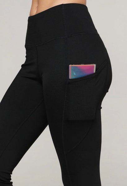 5-Pocket Athleisure Workout Leggings - Black