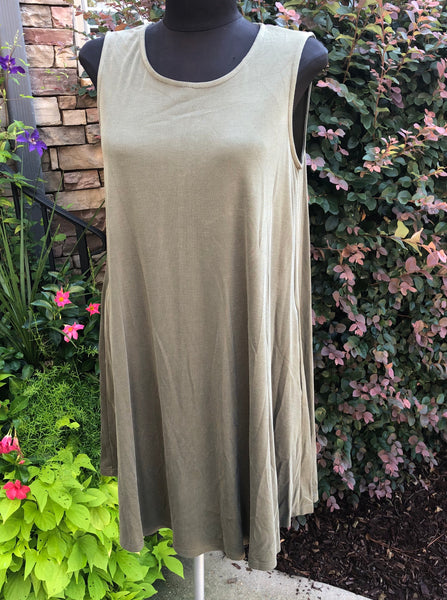 Olive Keyhole Dress
