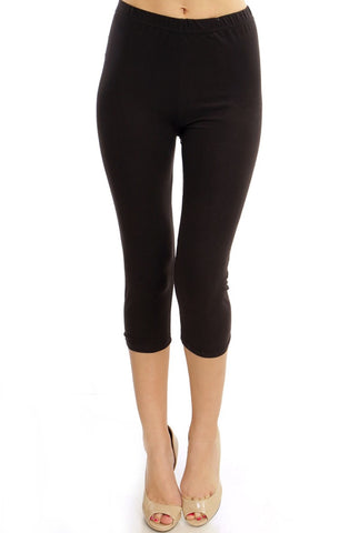 ***Super Soft Solid Capri Leggings***