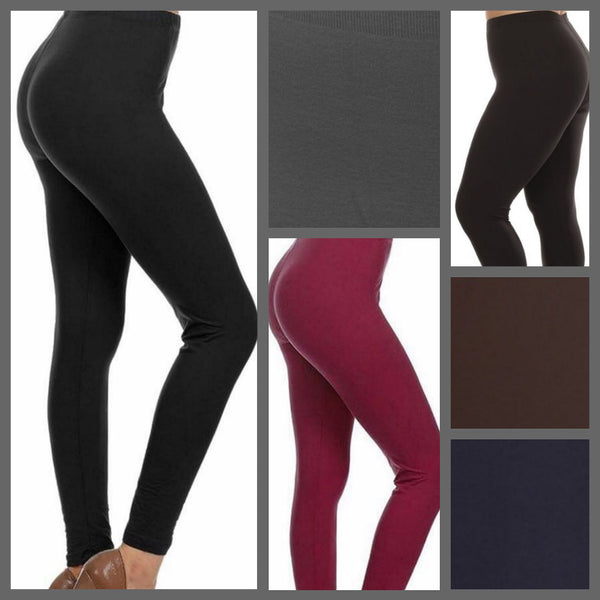 ***Super Soft*** Full Length Colored Leggings