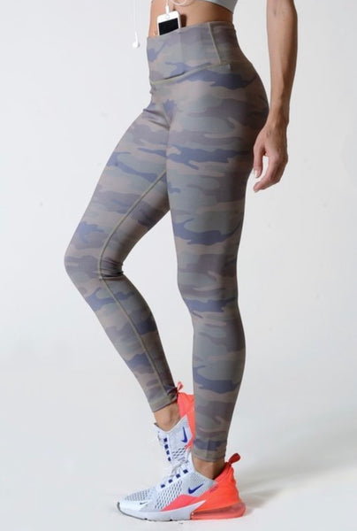 Olive Camo Athleisure Sports Leggings