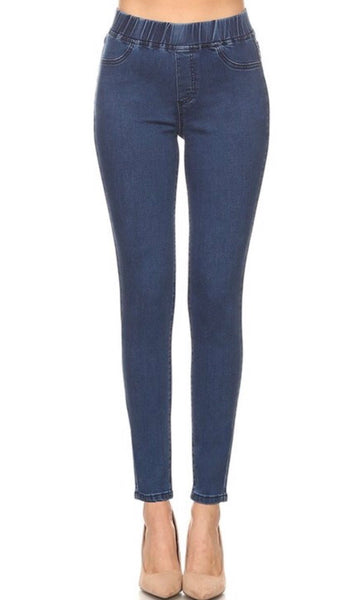 Hammer Pull-On Comfort Waistband Jeggings - Blue Denim