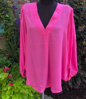 Sheer Top - Hot Pink