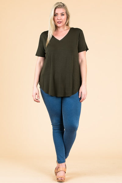 Favorite V-neck T-shirt - Olive