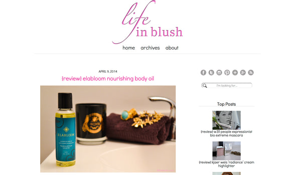 Elabloom Featured in Life In Blush