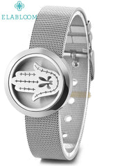 Milanese Loop Diffuser Locket Bracelet