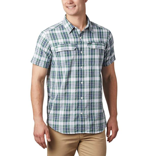 Columbia Men's Silver Ridge Short Sleeve Seersucker Shirt - Great Escape Outfitters