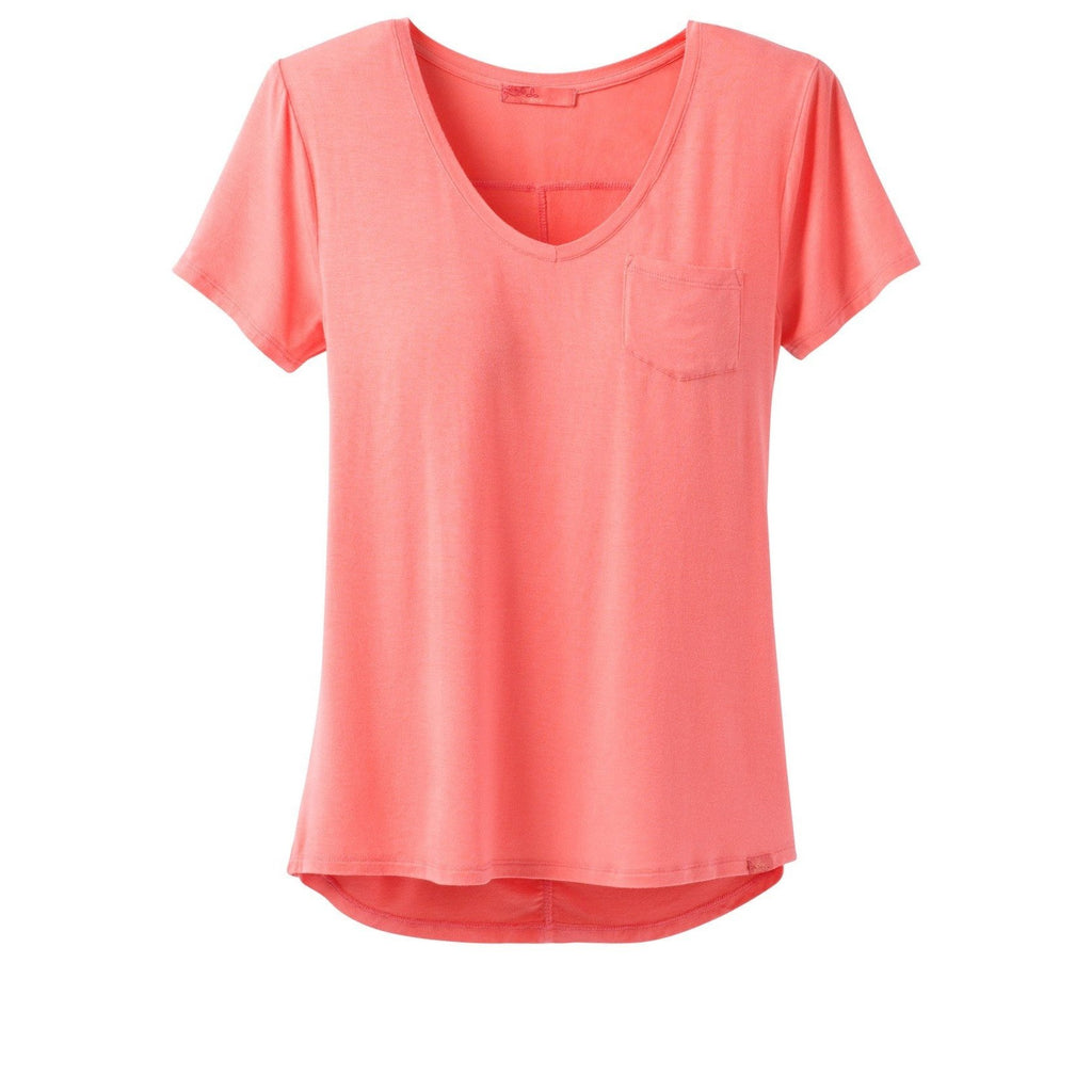 prAna Women's Foundation SS V-Neck Top-Great Escape Outfitters