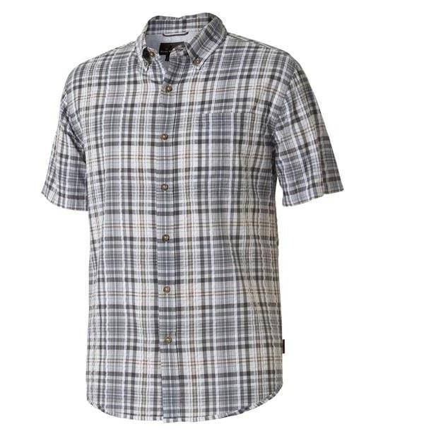 Royal Robbins Men's Mid-Coast Seersucker Plaid Short Sleeve- 2017 - Great Escape Outfitters